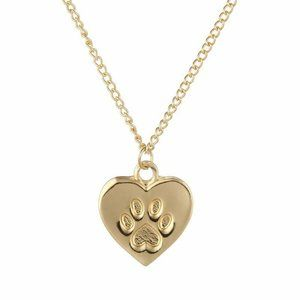 Jewelry - 3 for $30 New Gold Paw Print Pendant Necklace